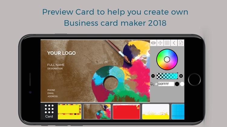 Custom Business Card Maker screenshot-4