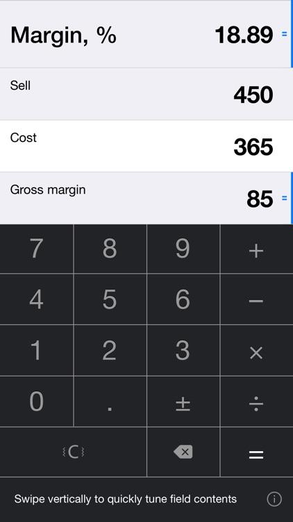 iMargin 2 -Margin Calculator