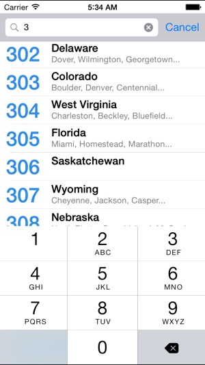 Area Code Directory on the App Store
