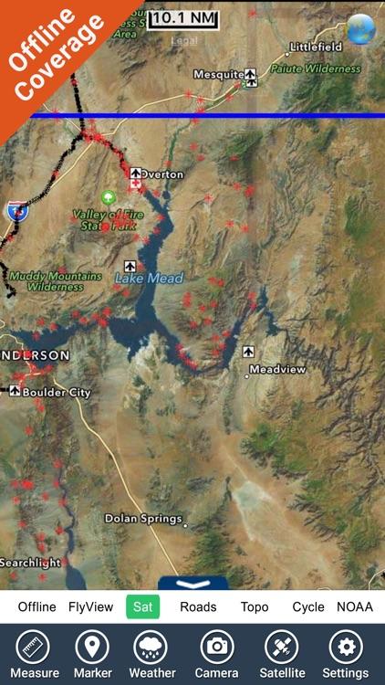 Lake Mead map GPS offline fishing charts Navigator screenshot-4