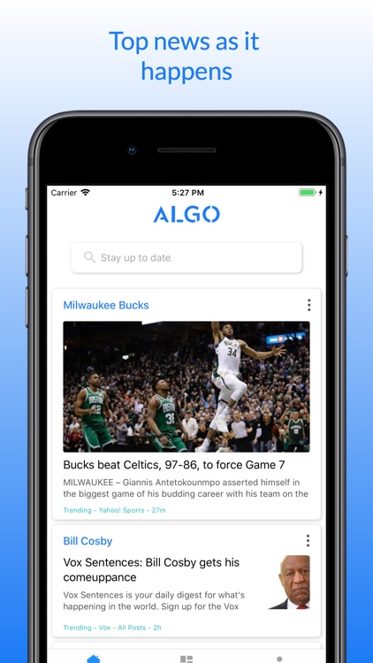 Algo: Real-time news