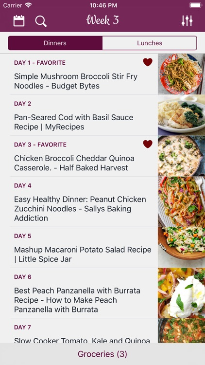 Weekly Chefs - Meal planner screenshot-0