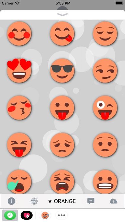 ORANGE Emoji • Stickers