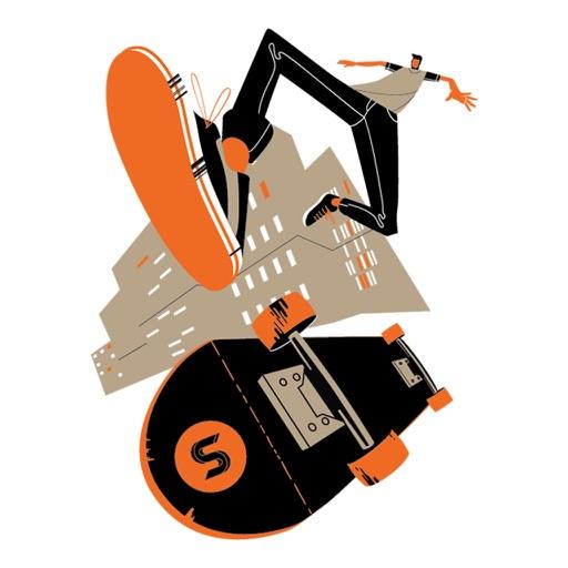 Sport Stickers - skateboard, run, workout, basket