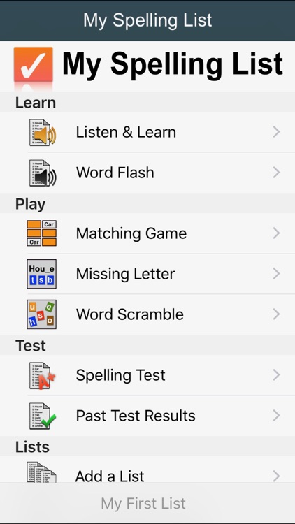 My Spelling List