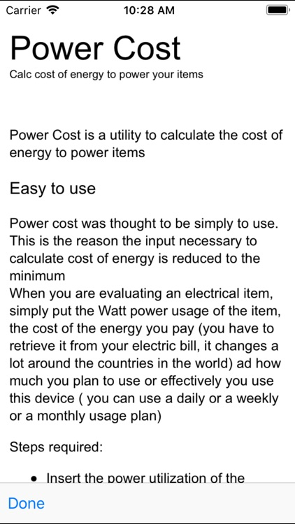 Power Cost screenshot-3