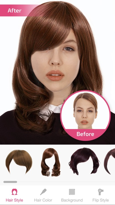 Hair Changer Hairstyle Makeover Hair Editor App Revisin Photo