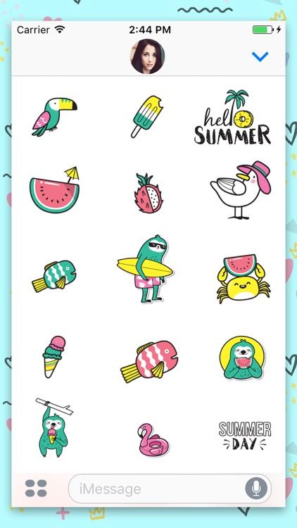 Summer: Animated Stickes