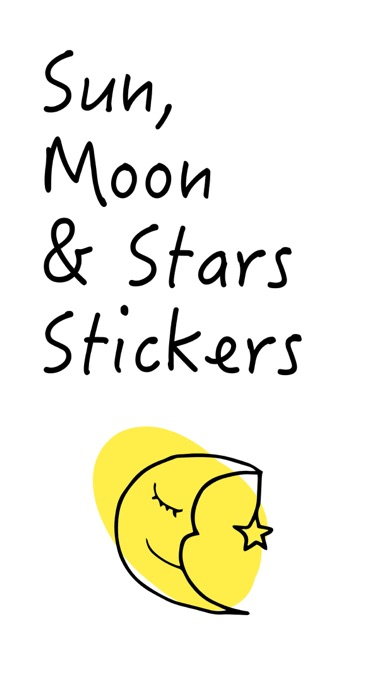 Sun, Moon & Stars Stickers screenshot one