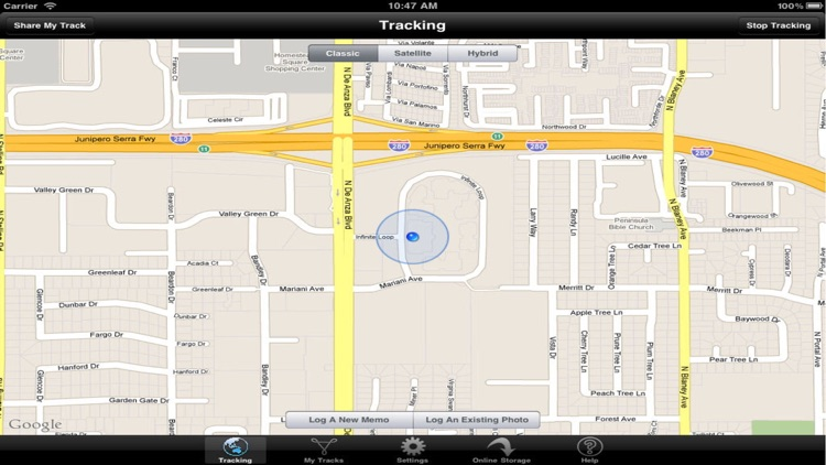 Tracking for iPhone