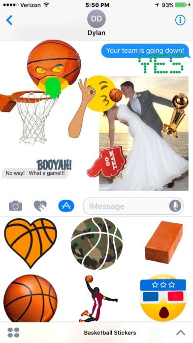 Basketball Hoops Sticker Packのスクリーンショット1
