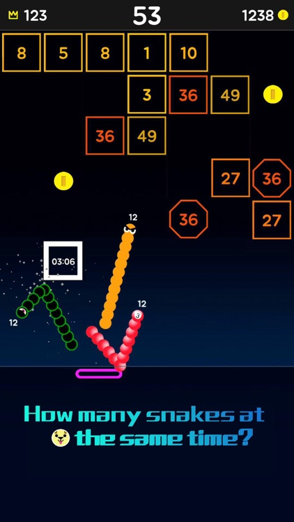 Snake Bricks-Bounce Balls screenshot-0