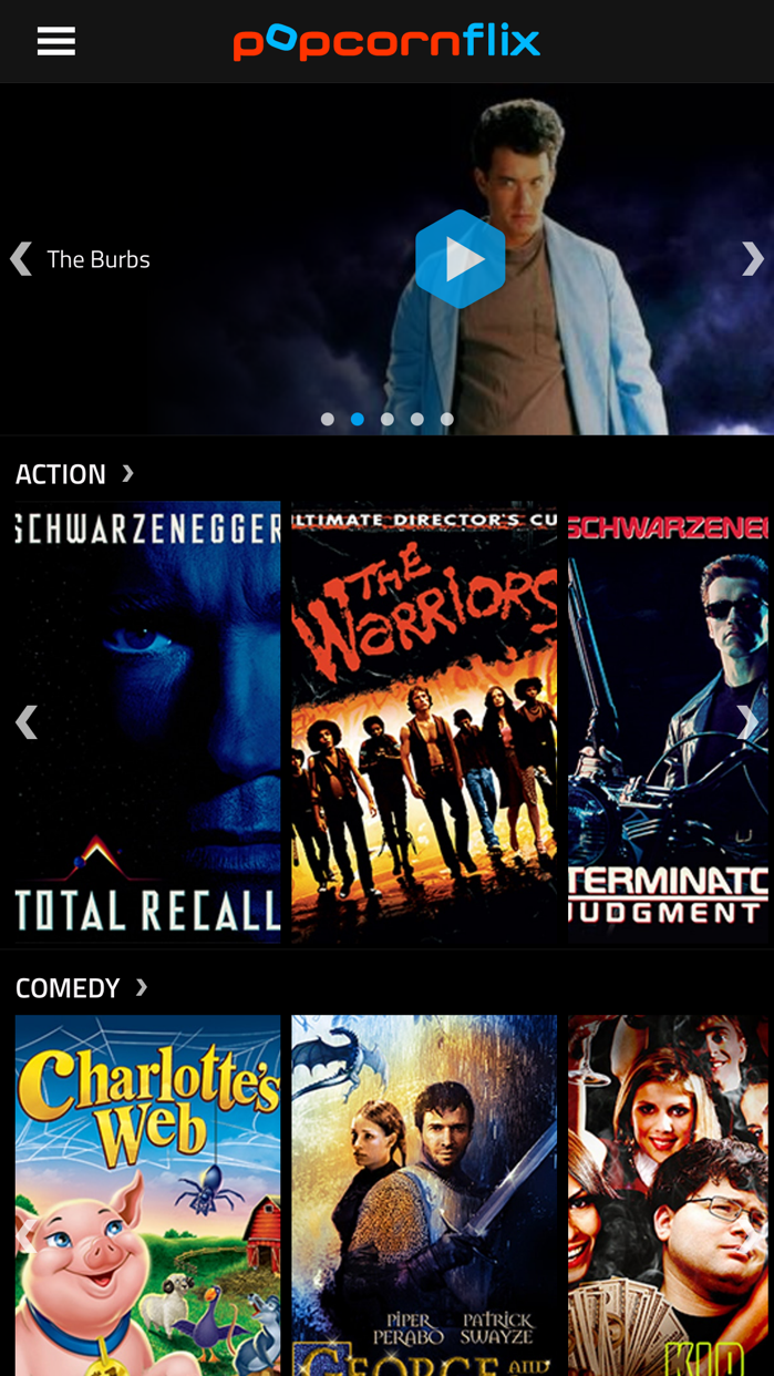 Popcornflix - Movies and TV Screenshot