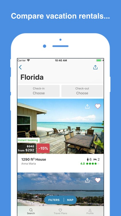 HomeToGo: Vacation Rentals