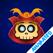 Cute Samurai Skull (animated)
