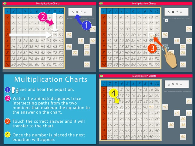 Multiplication Charts  Montessori Math For Kids On The App Store