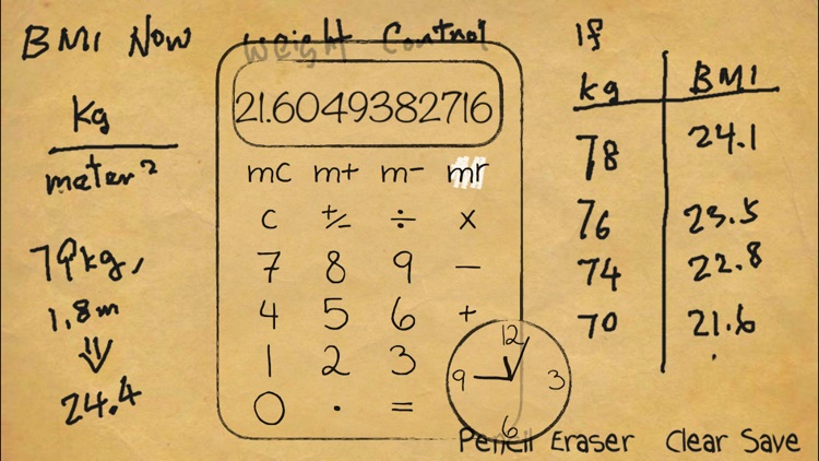 Paper Calculator & Clock screenshot-4