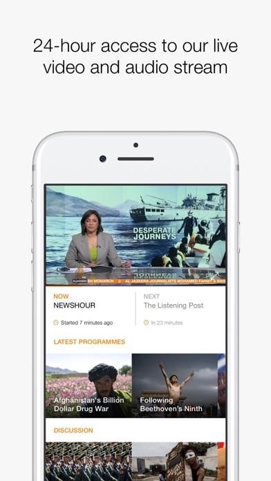 Screenshot 1 for Al Jazeera's iPhone app'