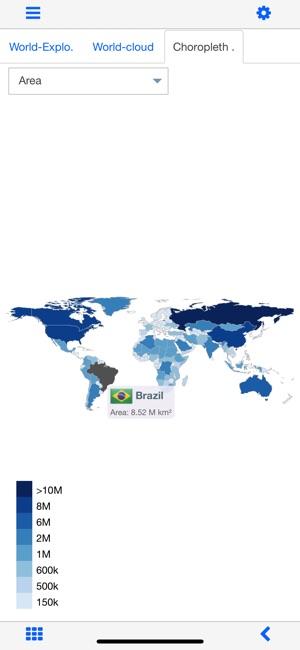 World atlas world map mxgeo on the app store world atlas world map mxgeo on the app store gumiabroncs Choice Image