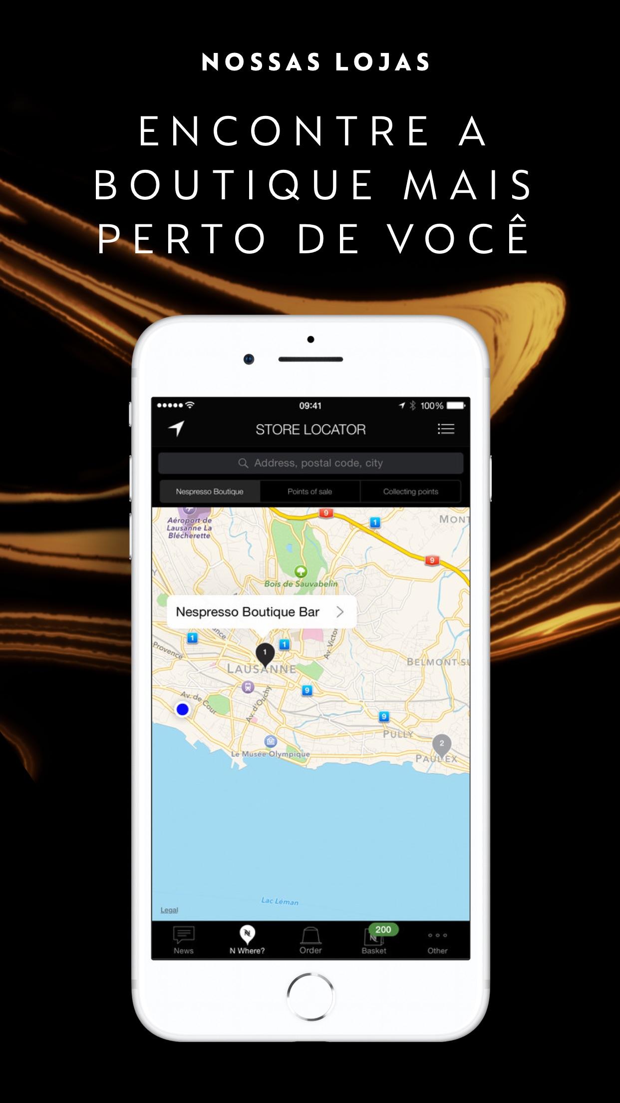 Screenshot do app Nespresso