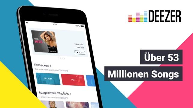 deezer musik podcast player im app store. Black Bedroom Furniture Sets. Home Design Ideas