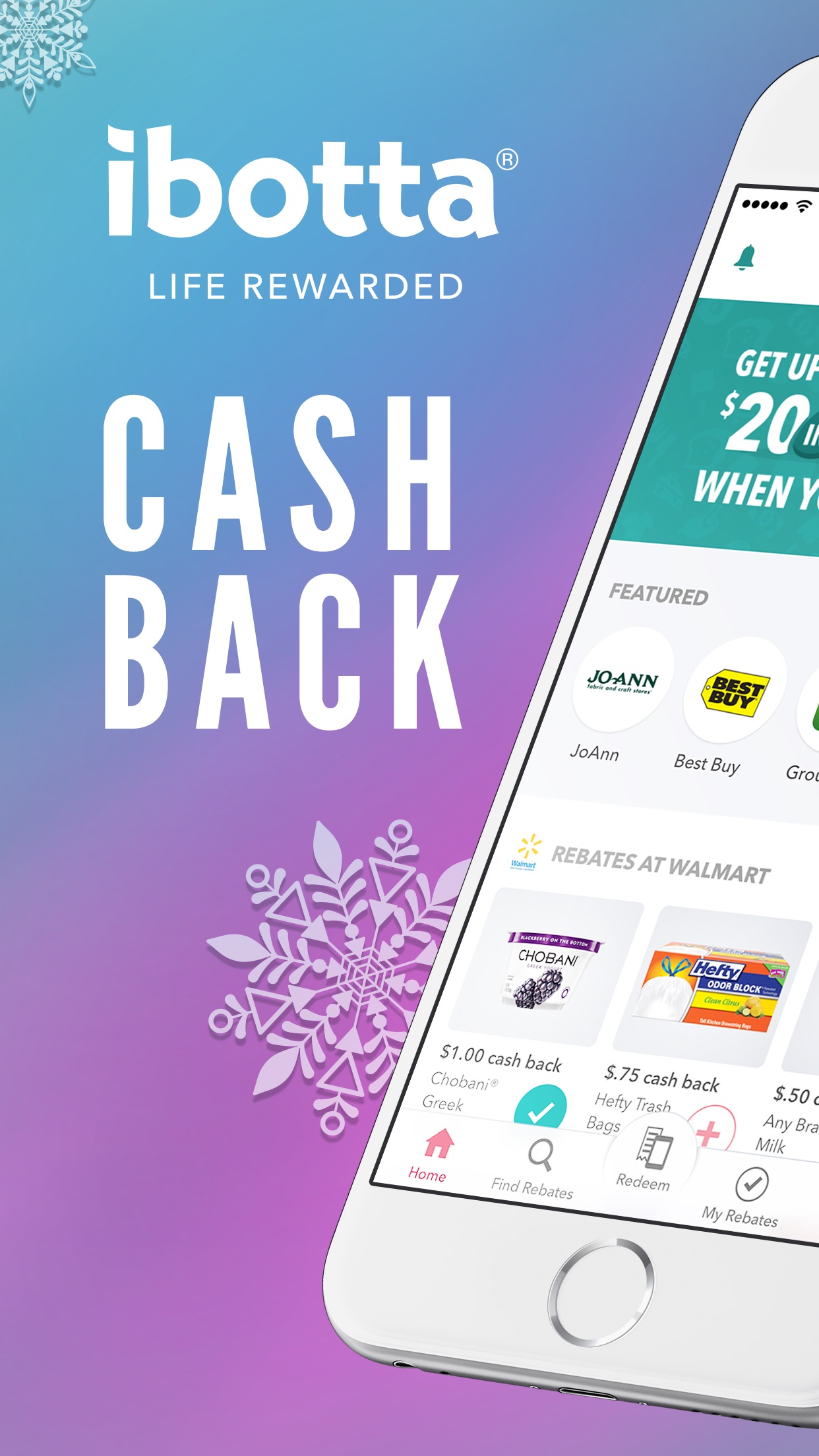 Ibotta: Cash Back Rewards App Screenshot