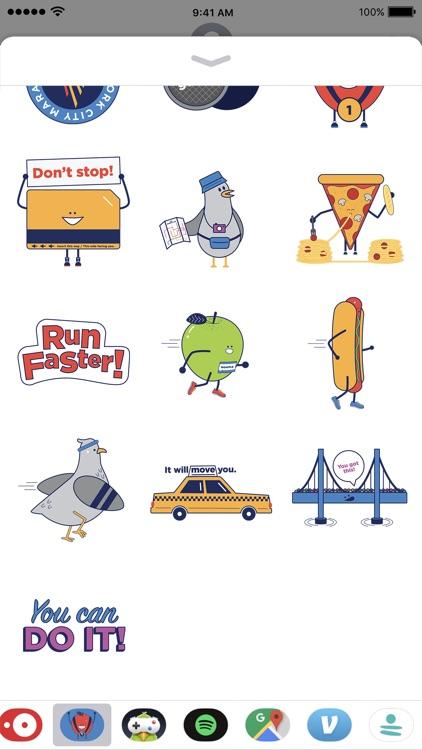 TCS NYC Marathon Sticker Pack screenshot-3