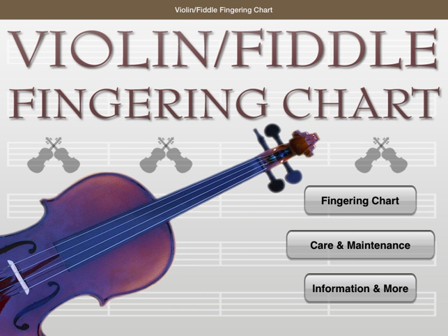 ViolinFiddle Fingering Chart On The App Store