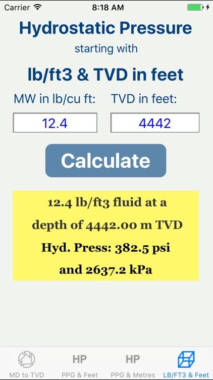 OilField Hydrostatic Pressure. screenshot-3