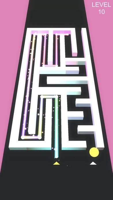 MAZ - maze puzzle game - Screenshot on iOS