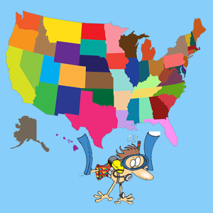 Cartoon States and Capitals app