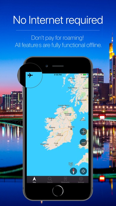 Screenshot for Ireland Offline Navigation in United States App Store