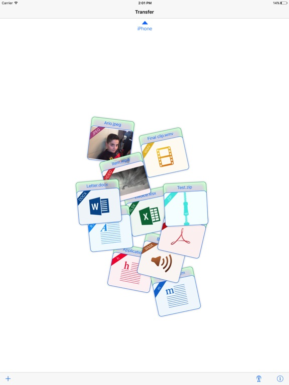 Transfer - File sharing screenshot