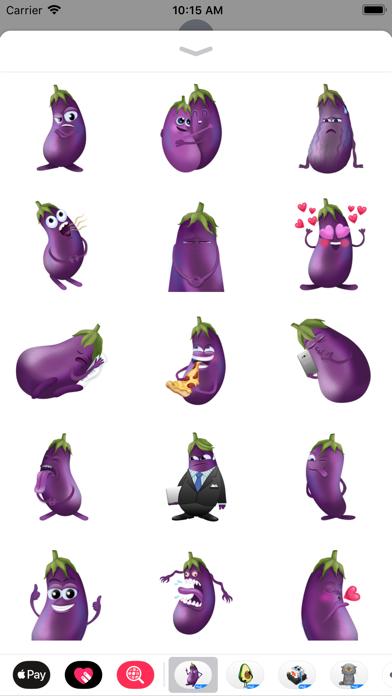 Eggplant Andy by Moji screenshot 4