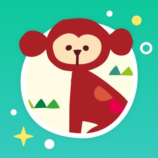 ゆびつむぎ - タッチ絵遊びアプリ