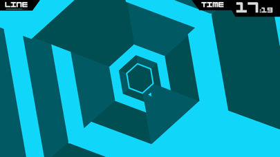 Screenshot from Super Hexagon