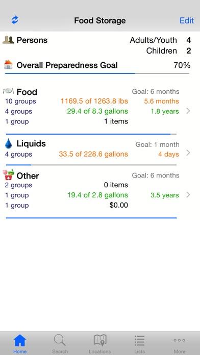 Home Food Storage review screenshots