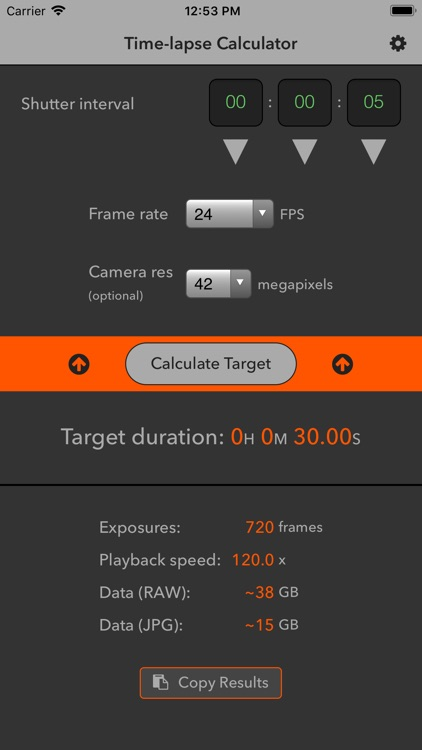 Time-lapse Calculator screenshot-3
