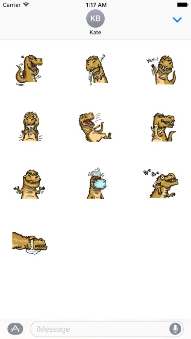 T-Rex a Cute Dinosaur Sticker screenshot 3