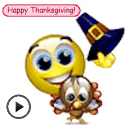 Moving Thanksgiving Day Emoji