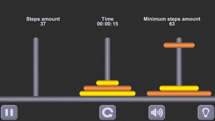 The Tower of Hanoi Math puzzle screenshot-3