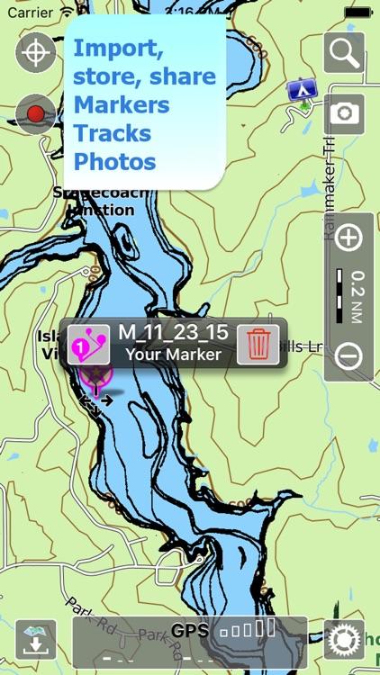 Aqua Map Illinois Lakes GPS HD