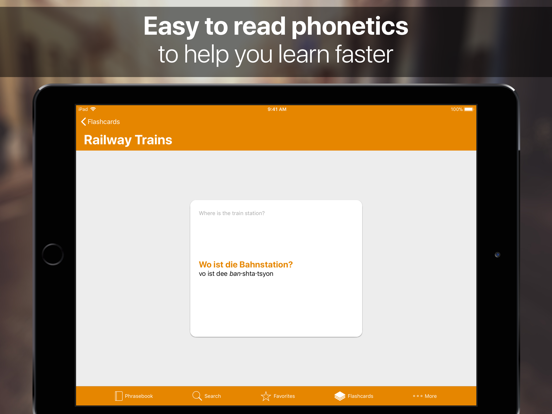 SpeakEasy ~ French, Spanish, German Offline Phrasebook and Flashcards with Native Speaker Voice and Phonetics screenshot