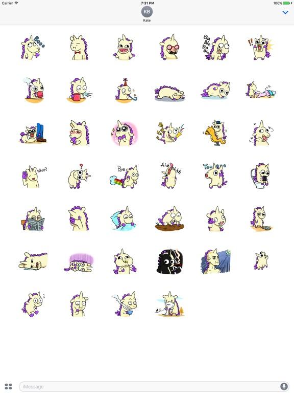 Crazy And Cute Unicorn Sticker screenshot 4