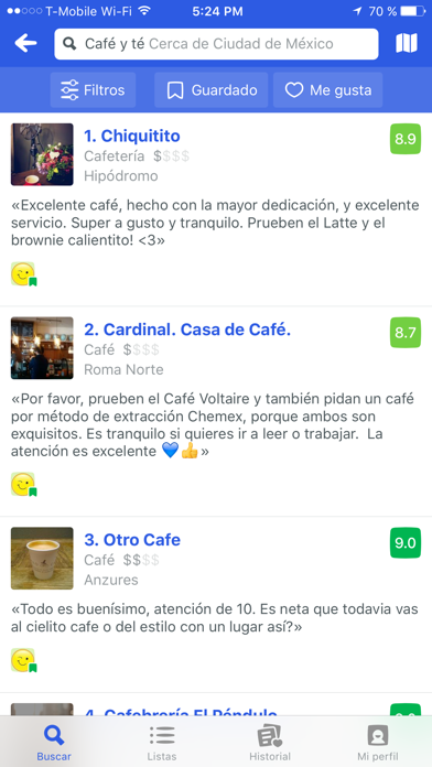 Screenshot for Foursquare City Guide in Venezuela App Store