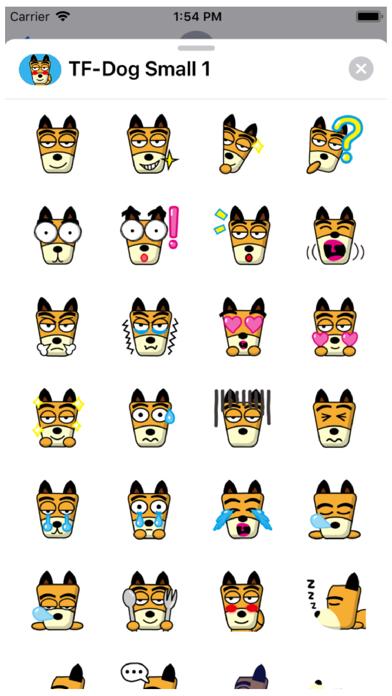 TF-Dog Small 1 Stickers Screenshot