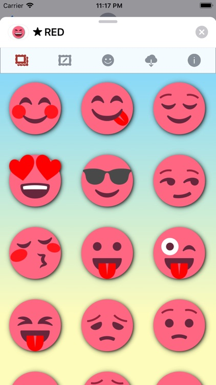 RED Emoji • Stickers