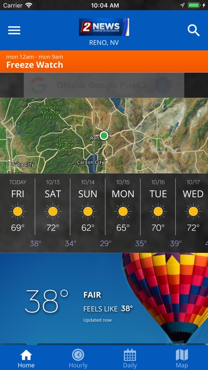 KTVN 2 News Weather App