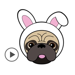 Pug Love Animated Dog Stickers