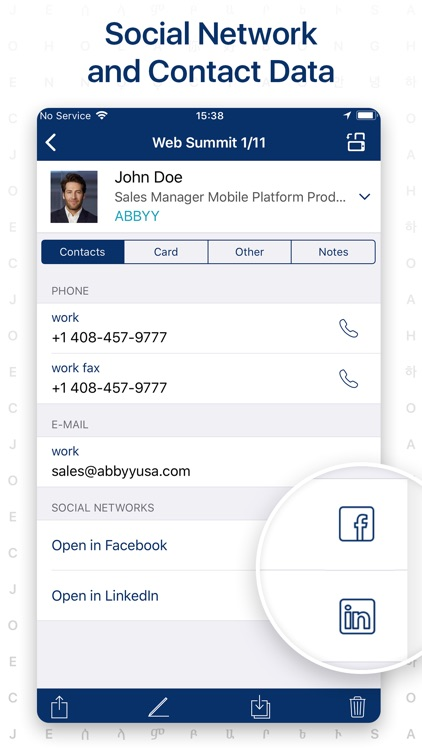 ≡ Business Card Scanner Pro screenshot-3